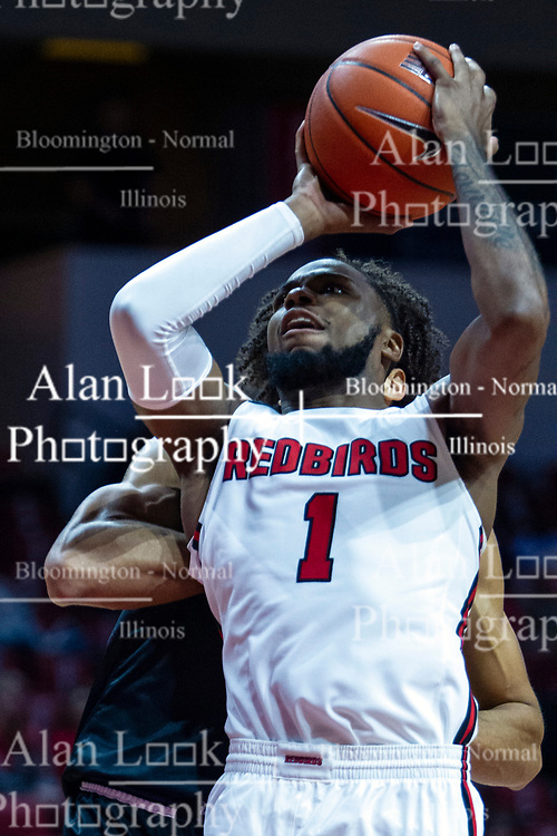 NORMAL, IL - October 23: Dedric Boyd during a college basketball game between the ISU Redbirds and the Truman State Bulldogs on October 23 2019 at Redbird Arena in Normal, IL. (Photo by Alan Look)
