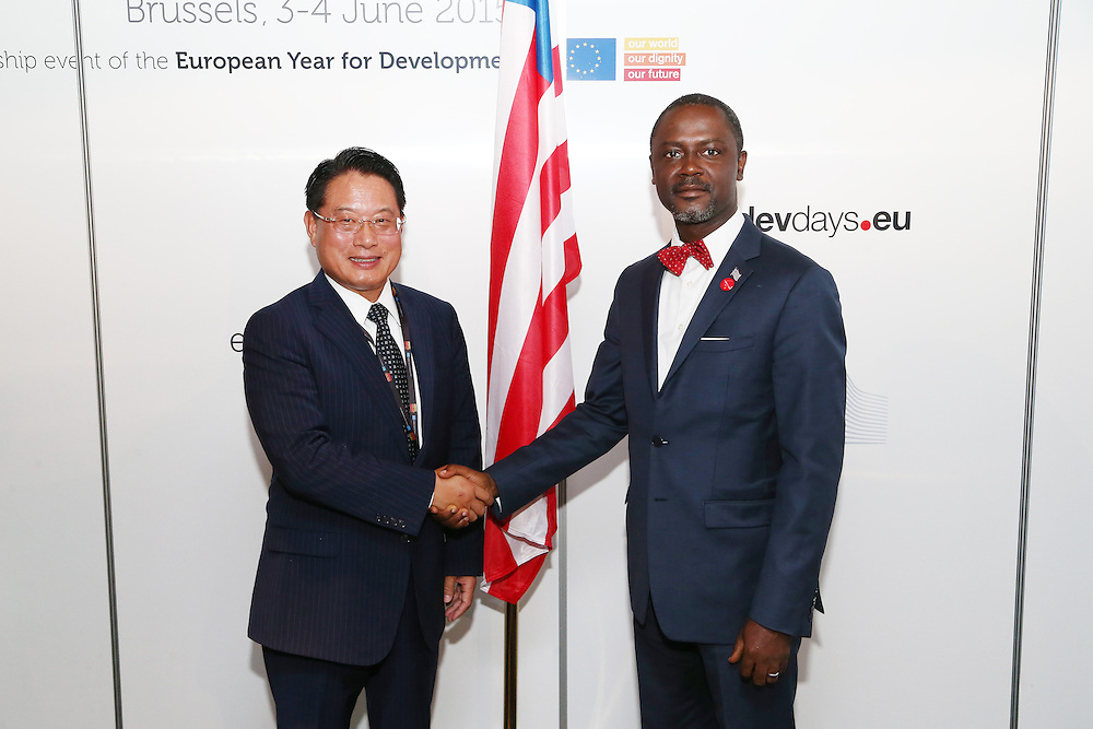 20150604- Brussels - Belgium - 04 June 2015 - European Development Days - EDD  - Bilateral Meeting - Mr Li Yong, General of the United Nations Industrial Development Organization and Mr Axel Addy, Minister of Commerce and Industry  Liberia  © EU/UE