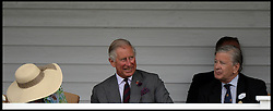 HRH The Prince of Wales watching the  Audi International Polo 2013-Westchester Cup Polo match Audi England v Equus & Co USA at the <br /> Guards Polo Club, Egham, United Kingdom,<br /> Sunday, 28th July 2013<br /> Picture by Andrew Parsons / i-Images