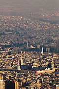 Umayyad Mosque, Damascus, Syria view from  Mount Qassiun