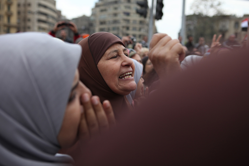 """On """"Sunday of the martyrs"""" at Tahrir Square, Egyptians call for the ouster of President Hosni Mubarak and commemorate the death of more than 300 people killed in clashes with government forces. ."""