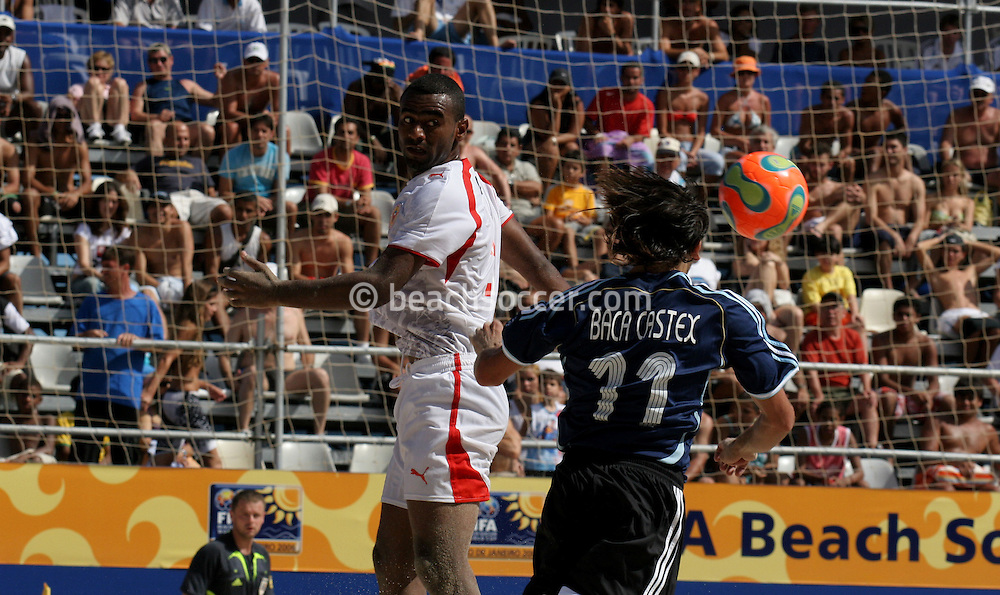 Footbal-FIFA Beach Soccer World Cup 2006 -  Oficial Games BHR x ARG - Baca and Omar- Brazil - 04/11/2006.<br />Mandatory Credit: FIFA/Ricardo Ayres