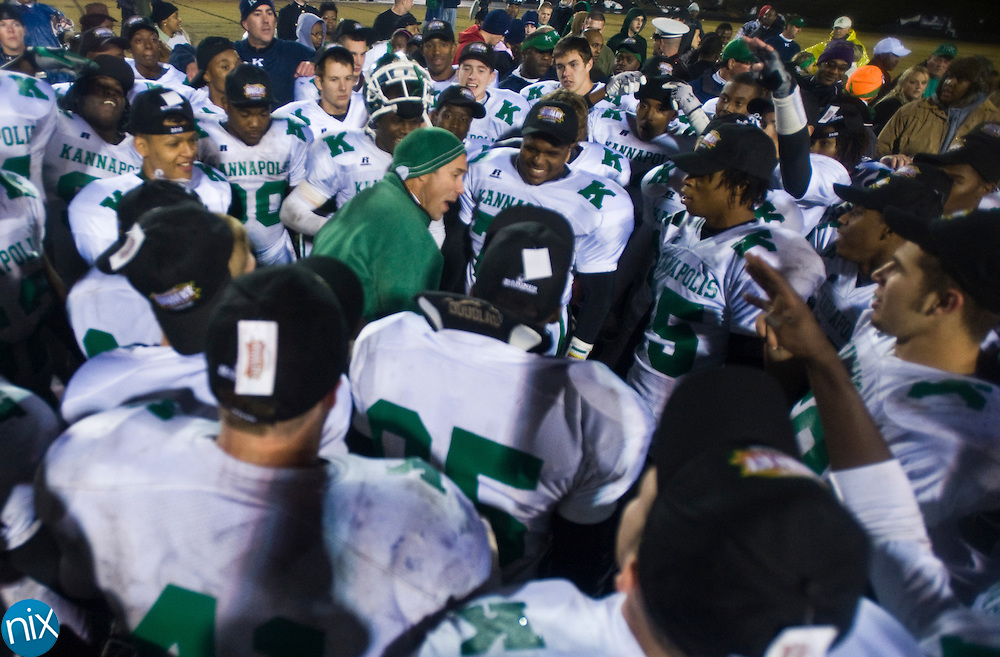 Friday night at Concord High School. The Wonders won 28-21 to reclaim the bell in the 80th installment of the cross town rivalry known as the Battle of the Bell. (Photo by James Nix)