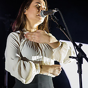 WASHINGTON, DC - November 17th, 2018 - Mitski performs on stage at the 9:30 Club. She released her latest album, Be the Cowboy, in August to critical acclaim. (Photo by Kyle Gustafson / For The Washington Post)