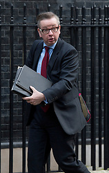 © London News Pictures. 18/12/2012. London, UK.   Secretary of State for Education Michael Gove MP arriving on Downing Street, in London for cabinet meeting on December 18, 2012 Photo credit: Ben Cawthra/LNP.