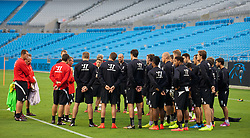 CHARLOTTE, USA - Friday, August 1, 2014: Liverpool players during a training session at the Bank of America Stadium on day twelve of the club's USA Tour. (Pic by David Rawcliffe/Propaganda)