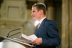 © Licensed to London News Pictures. 25/04/2017. London, UK. KEIR STARMER, Shadow Secretary of State for Exiting the European Union outlines Labour's plans for Brexit at One Great George Street in Westminster, London on Tuesday 25 April 2017. Photo credit: Tolga Akmen/LNP