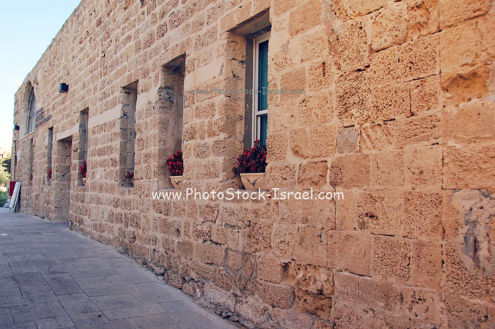 renovated building, now used as the site offices, Caesarea, Israel.