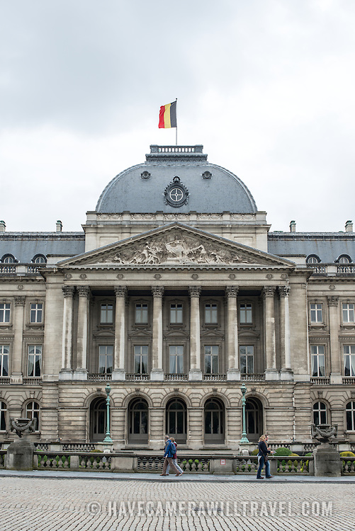 The center of the Royal Palace of Brussels, the official palace of the Belgian royal family.