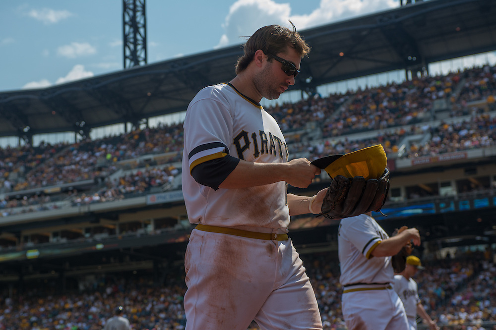 PITTSBURGH, PA - JUNE 08: Neil Walker #18 of the Pittsburgh Pirates looks on during the game against the Milwaukee Brewers at PNC Park on June 8, 2014 in Pittsburgh, Pennsylvania. (Photo by Rob Tringali) *** Local Caption *** Neil Walker