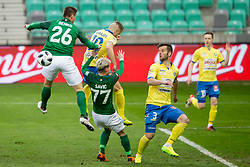 Leon Benko of NK Olimpija Ljubljana during football match between NK Olimpija Ljubljana and NK Celje in 1st leg match in Semifinal of Slovenian cup 2017/2018, on April 4, 2018 in SRC Stozice, Ljubljana, Slovenia. Photo by Urban Urbanc / Sportida