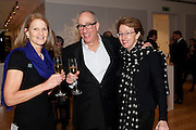 EVELYN BROOKS; ALEX LIFSCHUTZ; MONIQUE LIFSCHUTZ, Bonhams Auction house hosts festive drinks to preview the first phase of the reconstruction of its Mayfair Headquarters - due for completion in 2013.<br /> Bonhams, 101 New Bond Street, London, 19 December 2011.