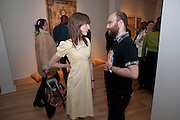 OLGA KULAGINA; HAIM SOKOL, Calvert 22 opening party.  Calvert 22 is a foundation devoted to promoting art from eastern Europe. Calvert avenue. London E2. W1, 12 May 2009