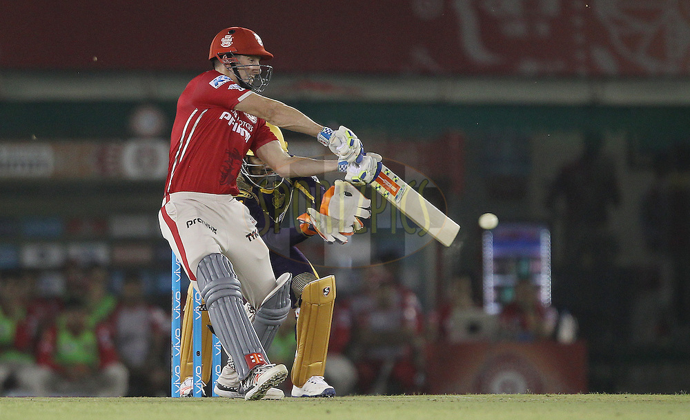 Shaun Marsh of Kings XI Punjab during match 13 of the Vivo Indian Premier League ( IPL ) 2016 between the Kings XI Punjab and the Kolkata Knight Riders held at the IS Bindra Stadium, Mohali, India on the 19th April 2016<br /> <br /> Photo by Ron Gaunt / IPL/ SPORTZPICS