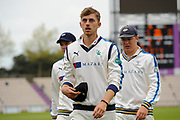 Ben Coad of Yorkshire during the Specsavers County Champ Div 1 match between Hampshire County Cricket Club and Yorkshire County Cricket Club at the Ageas Bowl, Southampton, United Kingdom on 21 April 2017. Photo by Graham Hunt.