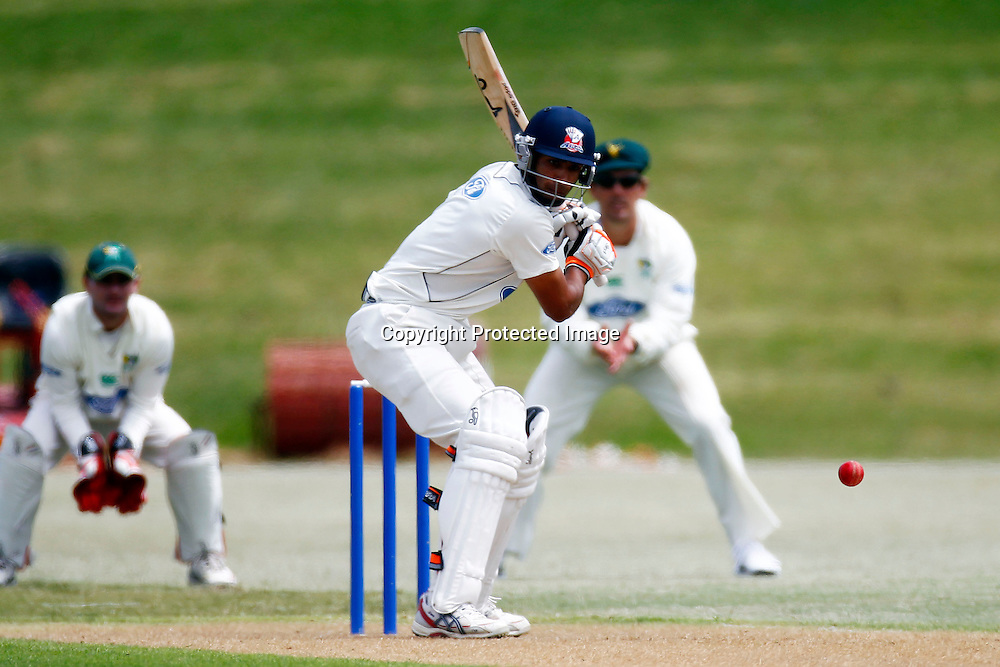Auckland's Jeet Raval during the plunket shield cricket match between the Auckland Aces and the Central Stags. Domestic 4 day cricket. Colin Maiden Park, Auckland. 30 November 2011. Photo: William Booth/photosport.co.nz