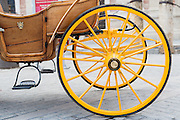 Horse carriage wheels in Sevilla (Spain)