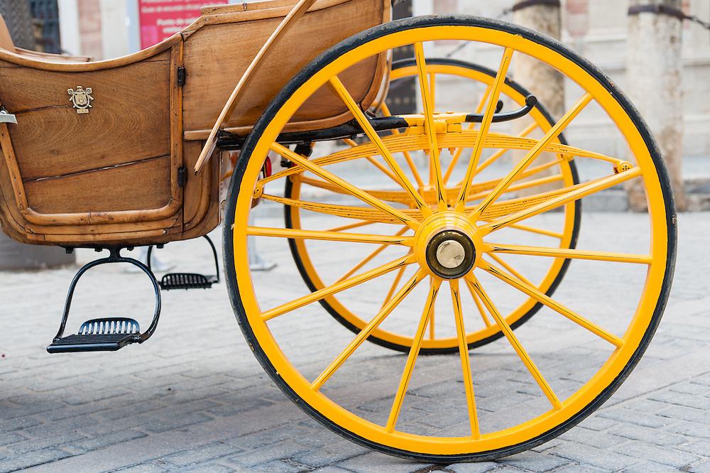 Horse carriage wheels in Sevilla (Spain)
