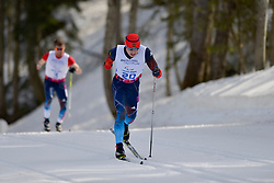 OMAN John, MINNEGULOV Rushan competing in the Nordic Skiing XC Long Distance at the 2014 Sochi Winter Paralympic Games, Russia