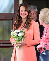 The Duchess of Cambridge visits Naomi House Children&rsquo;s Hospice, Hampshire, UK, on the 29th April 2013<br /> <br /> Picture by James Whatling