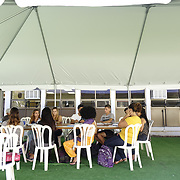 DECEMBER 1, 2017---HUMACAO, PUERTO RICO--<br /> Social work students at the University of Puerto Rico's Humacao campus study under temporary tents just outside the normal classrooms. Hurricane Maria damaged a lot of the structures and the school runs on generators since the power has not been restored.<br /> (PHOTO BY ANGEL VALENTIN/FREELANCE)