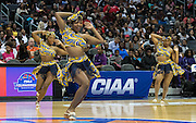 "The Johnson C. Smith Luv-A-Bulls performed a ""Coming to America inspired cheer during the CIAA tournament."