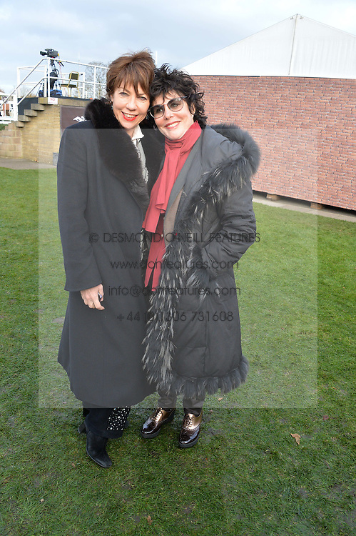 Left to right, KATHY LETTE and RUBY WAX at the 2013 Hennessy Gold Cup at Newbury Racecourse, Berkshire on 30th November 2013.