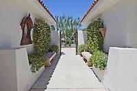 Narrow gateway of luxury villa