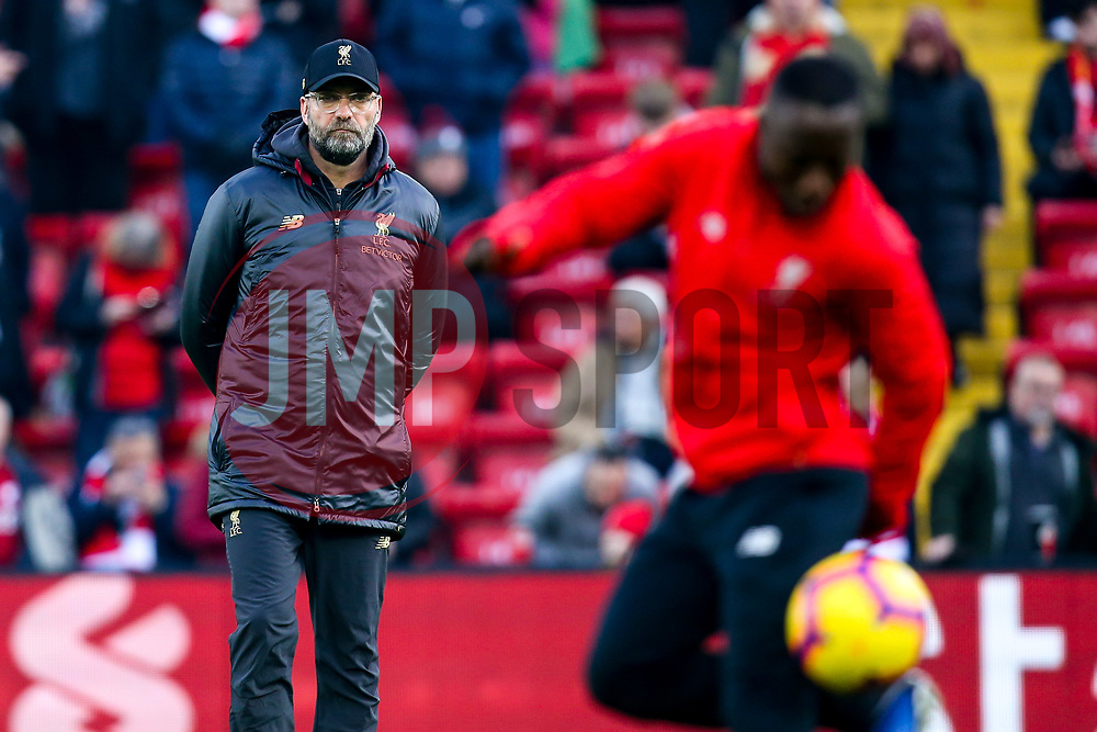 Liverpool manager Jurgen Klopp watches over Naby Keita of Liverpool - Mandatory by-line: Robbie Stephenson/JMP - 26/12/2018 - FOOTBALL - Anfield - Liverpool, England - Liverpool v Newcastle United - Premier League