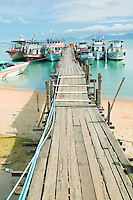 Pier and boats on Ko Koh Samui Thailand&#xA;<br />