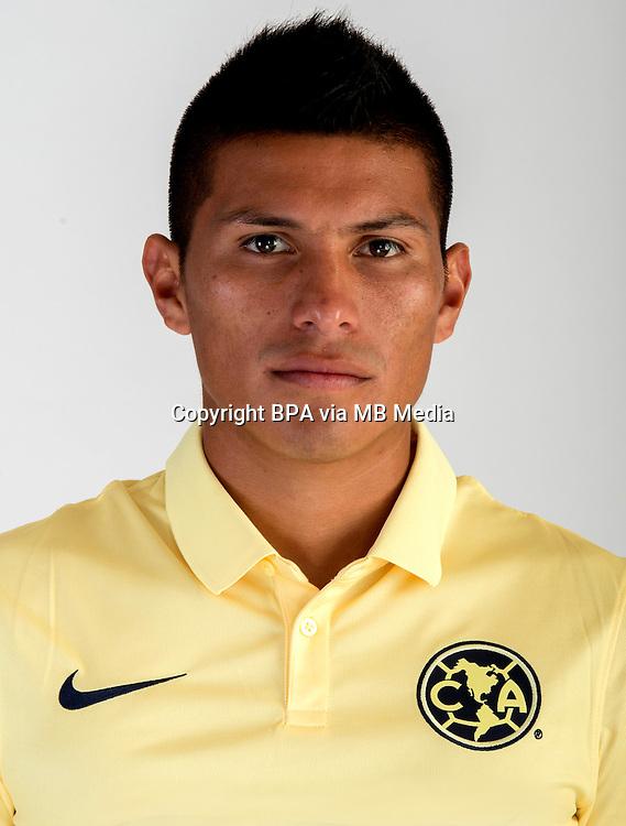 "Mexico League - BBVA Bancomer MX 2014-2015 -<br /> Aguilas - Club de Futbol America / Mexico - <br /> Moises Adrian Velasco Herrera "" Moises Velasco """