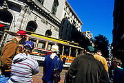 Image of the Powell Street Turnaround in downtown San Francisco, California, America west coast