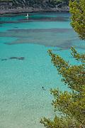 El Portet beach and coast in Moraira, Moraira village, Alicante Province, Costa Blanca, Spain