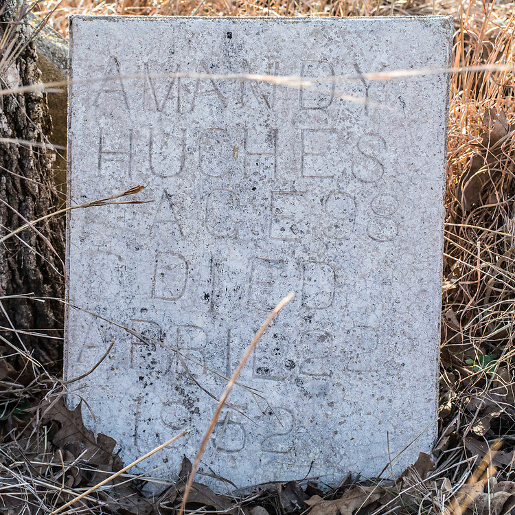 "This is the tombstone of mt 4th Great Grandmother Amanda ""Amandy"" Stamps Hughes. She was a midwife in Muldoon, and delivered almost 60 babies in the small town. She lived to be 98 years old."