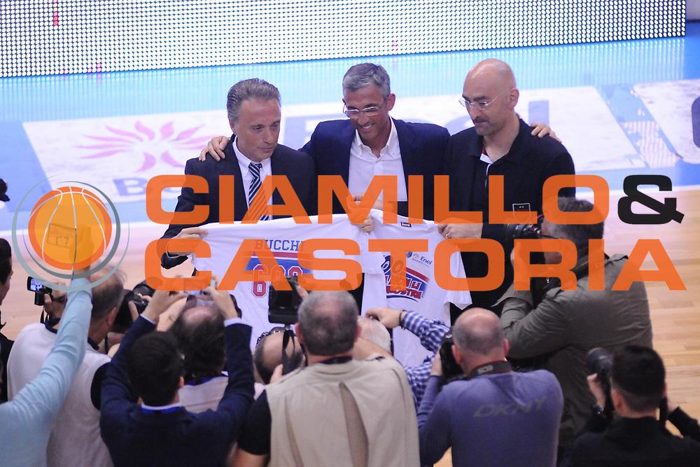 DESCRIZIONE : Brindisi  Lega A 2014-15 Enel Brindisi EA7 Milano<br /> GIOCATORE : Bucchi Piero  Fernando Marino Flavio Portaluppi<br /> CATEGORIA : Premiazione Premio Awards Coppa<br /> SQUADRA : Enel Brindisi EA7 Milano<br /> EVENTO :  Lega A 2014-15 <br /> GARA :Enel Brindisi EA7 Milano<br /> DATA : 03/05/2015<br /> SPORT : Pallacanestro<br /> AUTORE : Agenzia Ciamillo-Castoria/M.Longo<br /> Galleria : Lega Basket A 2014-2015<br /> Fotonotizia : Brindisi  Lega A 2014-15 Enel Brindisi EA7 Milano<br /> Predefinita :