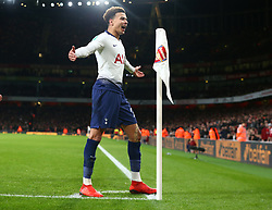 December 19, 2018 - London, England, United Kingdom - London, UK, 19 December, 2018.Tottenham Hotspur's Dele Alli celebrate his goal.during Carabao Cup Quarter - Final between Arsenal and Tottenham Hotspur  at Emirates stadium , London, England on 19 Dec 2018. (Credit Image: © Action Foto Sport/NurPhoto via ZUMA Press)
