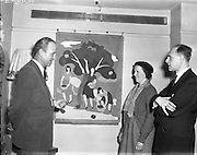 12/02/1957<br /> 02/12/1957<br /> 12 February 1957<br /> Arts and Crafts exhibition of Hungarian refugees at Brown Thomas, Dublin.