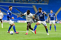 Football - 2019 / 2020 Championship - Play-off semi-final - 1st leg - Cardiff City vs Fulham<br /> <br /> Josh Onomah of Fulham on his way to scoring his team's first goal<br /> in a match played with no crowd due to Covid 19 coronavirus emergency regulations, in an almost empty ground, at the Cardiff City Stadium<br /> <br /> COLORSPORT/WINSTON BYNORTH