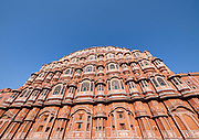 India, Rajasthan. Jaipur. Hawa Mahal (Palace of the Winds).