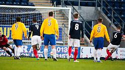 Falkirk's Stewart Murdoch (6) scoring the first goal from the penalty spot..half time : Falkirk v Cowdenbeath, 15/12/2012..©Michael Schofield.