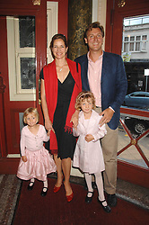 DARCEY BUSSELL and her husband ANGUS FORBES with their daughters left, ZOE and right PHOEBE at a children's ballet workshop and tea party to celebrate the world premiere of 'Angelina's Star Performance' Angelina Ballerina's first real life ballet hosted by the National Ballet at the New Wimbledon Theatre, London SW19 on 6th September 2007.<br />