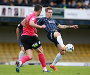 Southend player Glen Rea on loan from Brighton & Hove Albion tidies up in defence during the Sky Bet League 1 match between Southend United and Peterborough United at Roots Hall, Southend, England on 5 September 2015. Photo by Bennett Dean.