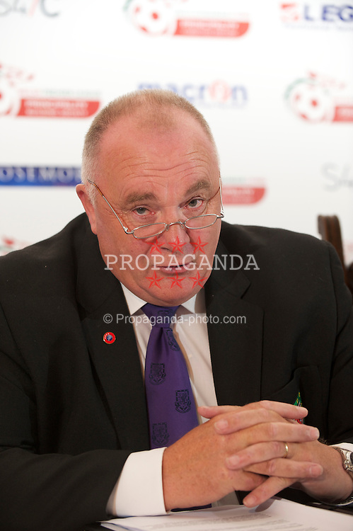 BODELWYDDAN, WALES - Thursday, August 5, 2010: Trefor Lloyd-Hughes (Vice-President of the Football Association of Wales) at the launch of the Principality Welsh Premier League at Bodelwyddan Castle. (Pic by: David Rawcliffe/Propaganda)