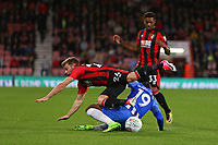 Football - 2017 / 2018 EFL (League) Cup - Third Round : AFC Bournemouth vs. Brighton and Hove Albion<br /> <br /> Bournemouth's Ryan Fraser tangles with Jose Izquierdo of Brighton at the Vitality Stadium (Dean Court) Bournemouth<br /> <br /> COLORSPORT/SHAUN BOGGUST