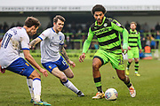 Forest Green Rovers Reuben Reid(26) runs forward during the EFL Sky Bet League 2 match between Forest Green Rovers and Mansfield Town at the New Lawn, Forest Green, United Kingdom on 24 March 2018. Picture by Shane Healey.