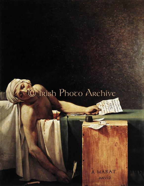 Jaques Louis David,  the Death of Marat