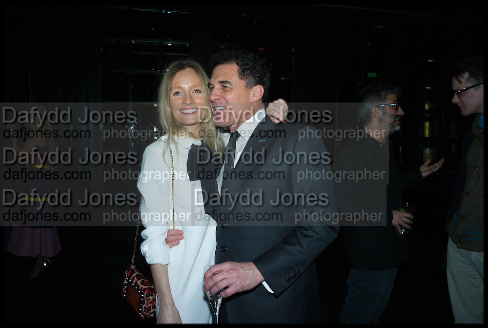 MARTHA WARD; ANDRE BALAAZ, Party to celebrate Vanity Fair's very British Hollywood issue. Hosted by Vanity Fair and Working Title. Beaufort Bar, Savoy Hotel. London. 6 Feb 2015