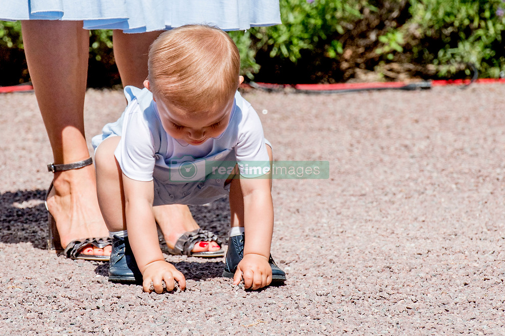 Crown Princess Victoria's son Prince Oscar playing in the garden, during the traditionally celebration of Crown Princess Victoria's birthday at the royal family's summer residence, Solliden Palace in Borgholm, Öland, Sweden, on July 15, 2017, a day later Stockholm celebration. Photo by Robin Utrecht/ABACAPRESS.COM