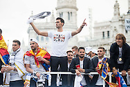 Real Madrid players celebrate winning the UEFA Champions League with an open top bus tour at Cibeles Square, Madrid<br /> Picture by EXPA Pictures/Focus Images Ltd 07814482222<br /> 29/05/2016<br /> ***UK &amp; IRELAND ONLY***<br /> EXPA-ESP-160529-0113.jpg