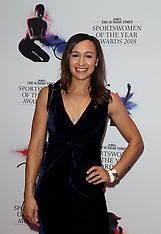 2018 Sunday Times Sportswomen of the Year Awards - 01 Nov 2018